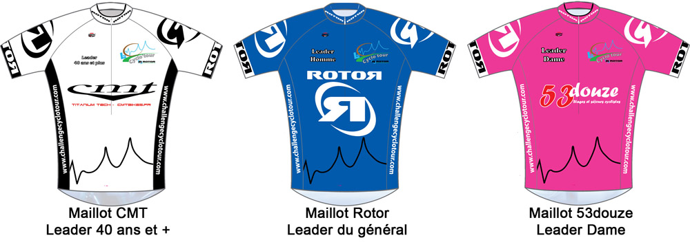 Maillots leader Cyclo'Tour 2011